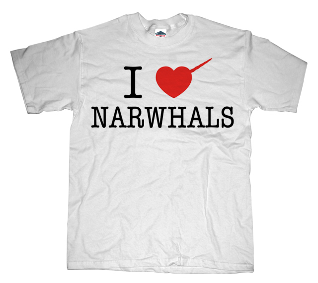 I Heart Narwhals T-shirt