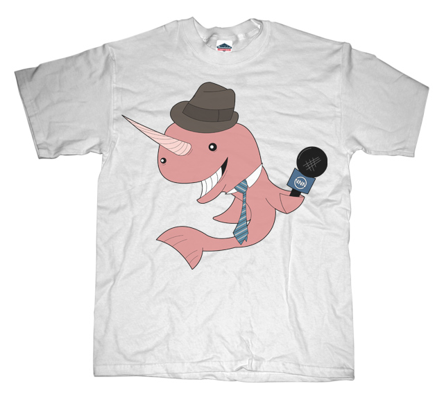 Narwhal Reporter T-shirt